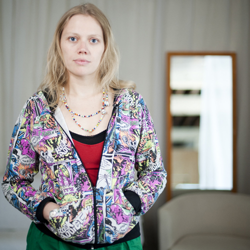 Lucie Borleteau, Réalisatrice. Photographie : © Sacha Lenormand