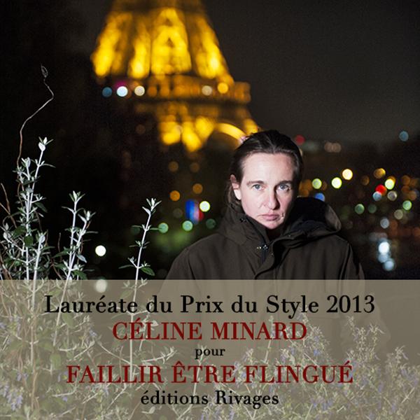 Céline Minard reçoit le prix du Style 2013 pour son roman-western Faillir être flingué (Rivages). Photographie © Sacha Lenormand
